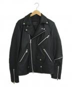 JACKROSE(ジャックローズ)の古着「レザーライダースジャケット」 ブラック