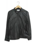 ()の古着「シープスキンシングルライダースジャケット」 ブラック