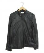 Luis(ルイス)の古着「シープスキンシングルライダースジャケット」|ブラック