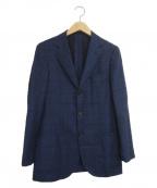 SOVEREIGN(ソブリン)の古着「チェック3Bジャケット」|ネイビー