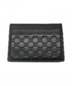 GUCCI(グッチ)の古着「カードケース」|ブラック