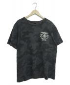 ()の古着「バックエンブロイダリーTシャツ」 ブラック×グレー