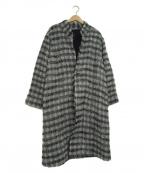 pas de calais(パドカレ)の古着「シャギーロングコート」|アイボリー×ブラック