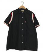 Hilton(ヒルトン)の古着「[古着]ヴィンテージボーリングシャツ」 ブラック