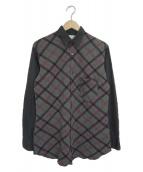 COMME des GARCONS SHIRT(コムデギャルソンシャツ)の古着「切替シャツ」 グレー