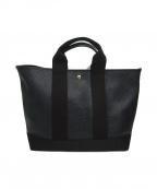TOPKAPI(トプカピ)の古着「スコッチグレインネオレザートートバッグ」|ブラック