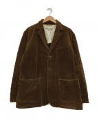 BURGUS PLUS(バーガスプラス)の古着「ワイドウェールコーデュロイ3BTNジャケット」 ブラウン