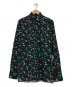 LANVIN(ライバン)の古着「レギュラーシャツ」|ブラック×グリーン