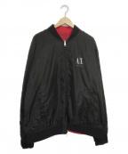ARMANI EXCHANGE(アルマーニエクスチェンジ)の古着「リバーシブルボンバージャケット」 ブラック