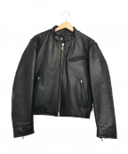 HARLEY-DAVIDSON(ハーレーダビットソン)の古着「[古着]シングルライダースジャケット」|ブラック