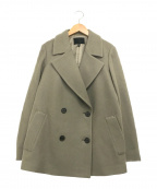 icB(アイシービー)の古着「シェルメルトンPコート」|カーキ