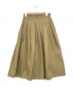 GRANDMA MAMA DAUGHTER(グランマママドーター)の古着「チノフレアスカート」|ベージュ