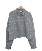 ()の古着「スリットシャツ」 グレー