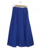 UNITED ARROWS(ユナイテッドアローズ)の古着「シアーフレアスカート」|ブルー
