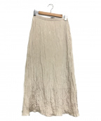 Munich(ミューニック)の古着「ツイストプリーツロングスカート」|アイボリー