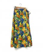 IENA LA BOUCLE(イエナ ラ ブークル)の古着「フラワープリントラップスカート」|マルチカラー