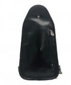 HERGOPOCH(エルゴポック)の古着「レザーボディーバッグ」 ブラック