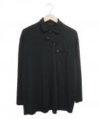 Y's(ワイズ)の古着「ボタンデザインシャツ」 ブラック