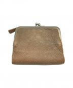 土屋鞄(ツチヤカバン)の古着「トーンオイルヌメ ガマ口ポケット財布」 ベージュ