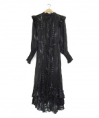 ALL SAINTS(オールセインツ)の古着「シルクブラウスワンピース」|ブラック
