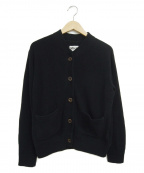 MHL.(エムエイチエル)の古着「ブラッシュドヤーンコットンカーディガン」|ネイビー