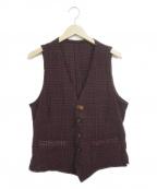 LARDINI(ラルディーニ)の古着「ジャカード製品染めウール5Bベスト」 ボルドー