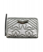 ()の古着「ラウンドミニ財布」 シルバー