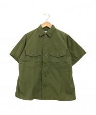YAECA LIKE WEAR (ヤエカライクウェア) 半袖シャツ オリーブ サイズ:34