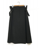 ()の古着「ベルテッドスカート」 ブラック