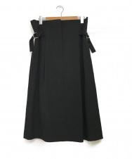 JIL SANDER (ジルサンダー) ベルテッドスカート ブラック サイズ:36