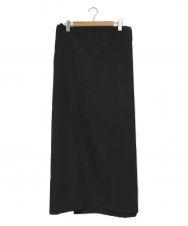 YohjiYamamoto pour homme (ヨウジヤマモトプールオム) ラップスカート ブラック サイズ:M