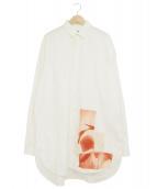 ()の古着「フロントフォトロングシャツ」|ホワイト