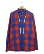 ()の古着「テープラインチェックシャツ」|ブルー×レッド