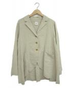 ()の古着「リネンビッグシルエットジャケット」 アイボリー