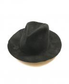 YohjiYamamoto pour homme(ヨウジヤマモトプールオム)の古着「バーンドウール ソフトハット」|ブラック