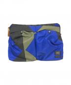 PORTER×MARNI(ポーター×マルニ)の古着「クラッチバッグ」 ブルー×ブラック
