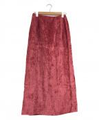 Demi-Luxe Beams(デミルクス ビームス)の古着「ベロアスカート」 ショッキングピンク