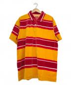 SUPREME(シュプリーム)の古着「ベロアポロシャツ」|オレンジ×レッド