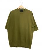 ROBERTO COLLINA × Bshop(ロベルトコリーナ×ビショップ)の古着「ハーフスリーブニット」 オリーブ