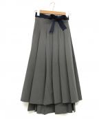 LE CIEL BLEU(ルシェルブルー)の古着「ラップエフェクトスカート」 グレー