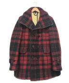 BURBERRY PRORSUM(バーバリープローサム)の古着「パイピングメルトンPコート」|レッド