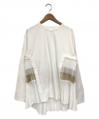 ELENDEEK(エレンディーク)の古着「ミックスプリーツカットソー」 ホワイト