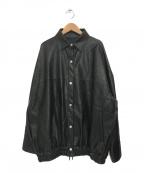 LEANN MOMENT(リーンモーメント)の古着「エコレザーブルゾン」 ブラック