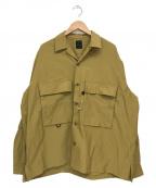DAIWA PIER39(ダイワピア39)の古着「テックミルオープンロングシャツ」 ベージュ