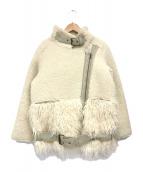 ()の古着「ボアフライトジャケット」 アイボリー