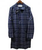 Julien David(ジュリアンデイヴィッド)の古着「比翼ショップコート」|ブルー×グレー