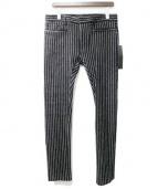 HAIDER ACKERMANN(ハイダーアッカーマン)の古着「ストライプパンツ」|ブラック
