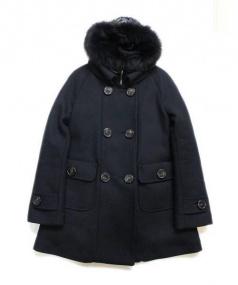 MONCLER(モンクレール)の古着「ダウンライナー付ウールコート」|ブラック