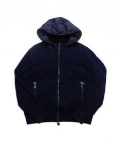 MONCLER(モンクレール)の古着「ダウン切替ニットジャケット」|ネイビー