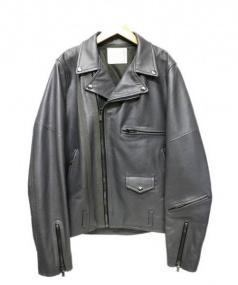 sacai(サカイ)の古着「ダブルライダースジャケット」|グレー